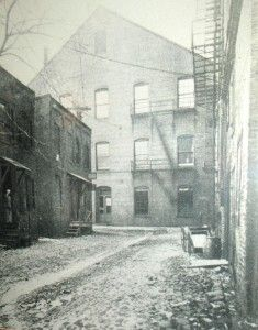 The alley behind Ford's Theater as it appeared in 1865.