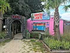 Bayou Joe's in Panama City, Florida is an off-the-beaten-path restaurant that is worth the drive. It is a quaint restaurant on the Massalina Bayou. Panama City Beach Florida, Destin Florida, Florida Vacation, Florida Travel, Panama City Panama, Family Vacation Destinations, Vacation Trips, Family Vacations, Vacation Ideas