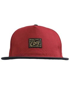 66cbdef62c0 Obey Clothing Plateau Snapback Hat - Burgundy Navy  28.00