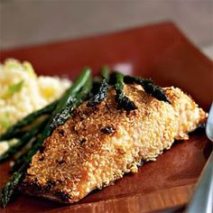Sesame-Crusted Salmon  My go-to salmon recipe. Always delish and so easy. Didn't care for the couscous.