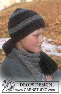 Open Winter / DROPS Children 12-28 - DROPS Mössa och halsduk