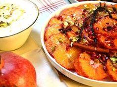 Kryddmarinerade apelsiner med krämigt ris