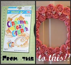 Cereal Box & Crepe Paper Wreath