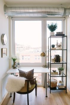 tiny office space with big style