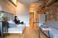 Small Room Interior, Small Apartment Interior, Small Apartment Living, Apartment Layout, Small Apartments, Living Room Interior, Home Living Room, Small Spaces, Small Room Design