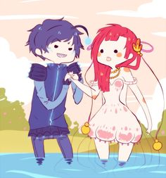 Prince Angler & Princess Jellyfish. Adventure Time OC's by ~iHomicide.