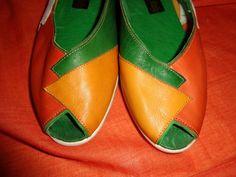 Weiteres - Schuhe*Vintage*Leder*orange*41*Peeptoes* - ein Designerstück von SweetSweetVintage bei DaWanda