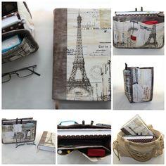 Organizador de mala e capa de livro Ref. Paris Bege.