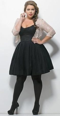 b5c72a8f955 plus size little black dress. piniful.com ...