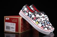 Vans Hello Kitty Back To School Black Cute Girls Shoes