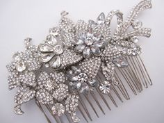 Rhinestone bridal hair  comb wedding hair comb for by Amoretto, $52.00