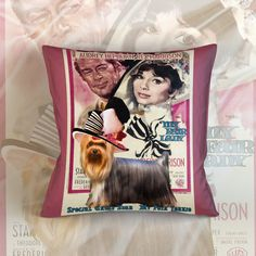 Yorkshire Terrier Art Pillow Case Throw Pillow My by NobilityDogs Buy Pillows, Down Pillows, Throw Pillows, Woman Movie, My Fair Lady, Vintage Canvas, Yorkshire Terrier, Original Artwork, Pillow Covers
