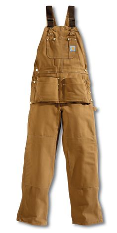 Carhartt Men's Duck Carpenter Bib Overall - Unlined