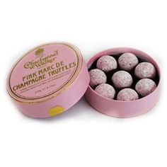 Pink Marc de Champagne Truffles from Charbonnel & Walker are Delicious!