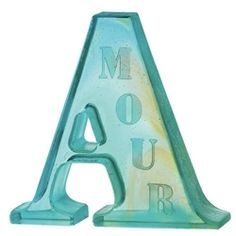 Daum A For Amour Crystal Sculpture