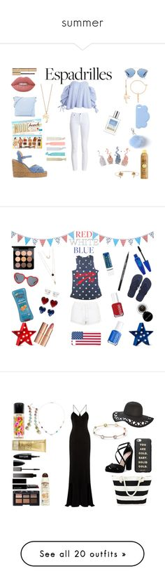 """""""summer"""" by brinsonkid ❤ liked on Polyvore featuring Castañer, Barbour, Lime Crime, Stila, Sun Bum, STELLA McCARTNEY, Christian Dior, Kate Spade, LC Lauren Conrad and Humble Chic"""