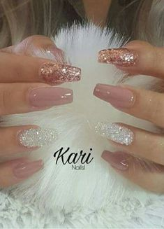 How to choose your fake nails? - My Nails Fancy Nails, Cute Nails, Pretty Nails, Glittery Nails, Prom Nails, Long Nails, Vegas Nails, Nails 2018, Short Nails