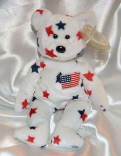 Ty Beanie Baby Glory Bear USA American Flag 4th of July Decor Patriotism  1997  Ty dd3b71737464