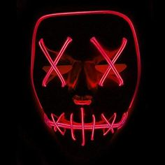 Accessories Masks LED Light Up Flashing Skull Mask Skeleton Halloween Rave Party Favor Cosplay LB Halloween Rave, Halloween Skeletons, Halloween Masks, Halloween 2019, Led, Art Rouge, Purge Mask, Cosplay Costume, Cosplay Outfits
