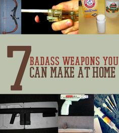 No arsenal is complete without these DIY homemade survival weapons. Check out these step-by-step instructions for 7 badass weapons you can make at home. Survival Weapons, Apocalypse Survival, Survival Life, Survival Tools, Camping Survival, Outdoor Survival, Survival Prepping, Emergency Preparedness, Survival Gadgets
