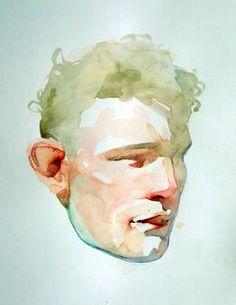 """L B,"" original portrait painting by artist Benjamin Björklund (Sweden) available at Saatchi Art #SaatchiArt."
