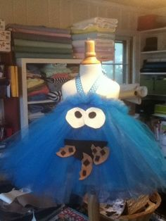 Cookie Monster costume for a little girl!