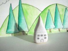 white clay house