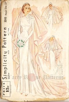 Simplicity 3043 Gorgeous Vintage 1930s Bridal by DRCRosePatterns