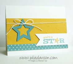VIDEO Tutorial: Stampin' Up! Pictogram Punches Spiral Pop Up Card www.juliedavisons.com #stampinup