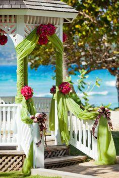Gorgeous wedding gazebo with views of the ocean