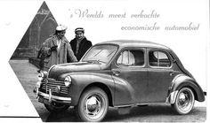 Renault 4cv, nice ad !!