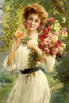 Emile Vernon (1872-1919) Vernon, Vintage Images, Vintage Art, Vintage Ladies, Vintage Ephemera, Vintage Prints, Victorian Women, Victorian Art, Munier