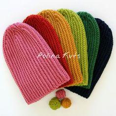 ВЯЖЕМ. Шапка бини крючком - Ribbed beanie hat