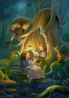 O Lobo Leitor: Ó neta, conta-me uma história!