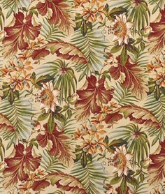 Waverly St. Croix Sun N Shade Cinnabar Fabric - $9.8 | onlinefabricstore.net Chair covers
