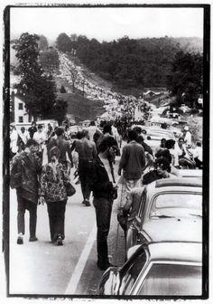 Heading to the Woodstock festival 1969