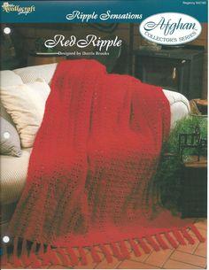 🏩 Colcha Baía Crochê itens decorativos Criações  Vermelho Ripple Afegão Colecionadores - /  🏩 Coverlet Bay Crocheting Creations decorative items Red Ripple Afghan Collectibles -