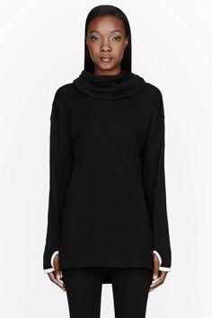 Y-3 Black 2 Way Hood Tunic -- All Black - Fashion - Portrait - Photography