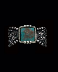 Montana Silversmiths® Ladies' Blue Earth and Filigree Cuff Bracelet::Fort Western Online