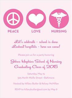gift ideas for nursing school graduates  nurse graduation, invitation samples