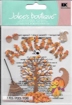 Jolee's Boutique  -- Autumn --  NEW --  dimensional stickers  (#1764) by…