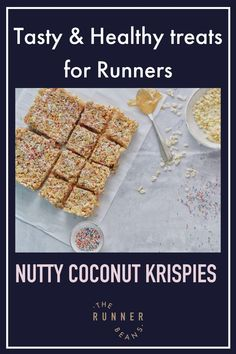 """Indulge in a healthy yet tasty snack you will love. Get the recipe to nutty coconut krispies, a healthy snack for runners #healthykrispies #healthyrecipesforrunners #healthysnacksforrunnersrecipes #healthysnacksforrunnersenergybites #therunnerbeans"" Best Lunch Recipes, Best Smoothie Recipes, Healthy Summer Recipes, Good Smoothies, Fall Recipes, Snack Recipes, Healthy Food Habits, Healthy Treats, Healthy Breakfasts"