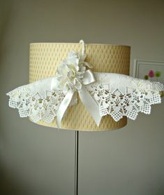 Unique design bridal, wedding dress hanger . Cream color satin hanger covered with hand-crocheted vintage doilies. I covered with lace the metal