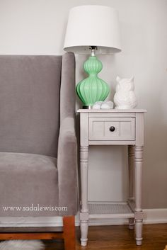 grey and mint| table on sale at kirklands