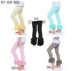 fashion tight leggings girl toddler triple ruffle pants wholesale icing pants leggings baby icing ruffle pants