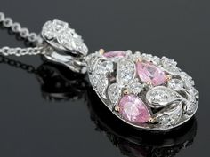 Remy Rotenier For Bella Luce (R) 3.12ctw Pink & White Diamond Simulant Pendant With Chain