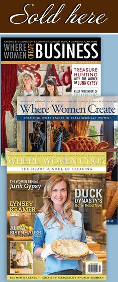 excited to retail Where Women Create...an awesome magazine for the women who wants to create in these times...the magazine can be mailed to you www.onthepurplecouch.com/shop or purchase at 4228 howard ave. kensington md