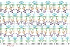 Crochet Stitches Chart, Crochet Motif Patterns, Crochet Diagram, Crochet Designs, Stitch Patterns, Diy Crochet, Crochet Projects, Charts, Knitting