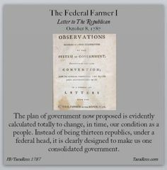"""On this day in 1787, an early contribution is made to the Anti-Federalist Papers. Perhaps you've heard of the Federalist Papers, a series of essays written in defense of the newly proposed Constitution as the states considered whether to ratify it? The Anti-Federalist Papers took the opposing viewpoint. The Federalist Papers were written in an organized fashion, under one pseudonym, """"Publius."""" By contrast, the Anti-Federalist Papers were not at all organized. Various authors took an…"""