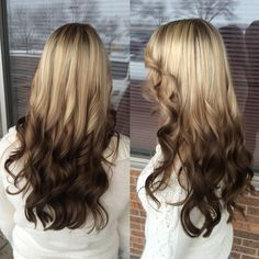 Reverse Ombre My Hairstyle, Cool Hairstyles, Hair Day, New Hair, Reverse Ombre Hair, Different Hair Colors, Bob, Gorgeous Hair, Balayage Hair